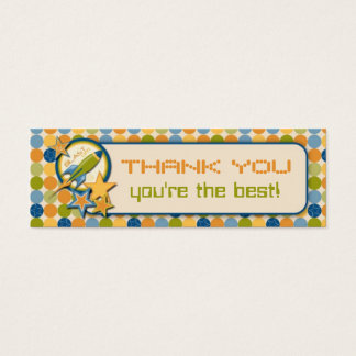 Blast Off! TY Skinny Gift Tag Mini Business Card