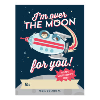 Blast off! Valentine Postcard