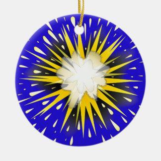 Blast Round Ceramic Ornament