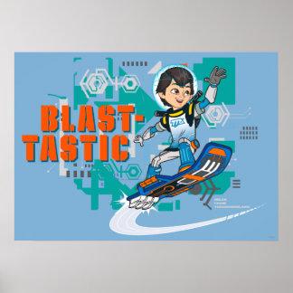 Blast-Tastic Miles Callisto Blastboard Graphic Poster