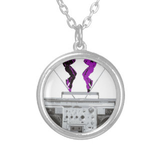 blaster silver plated necklace