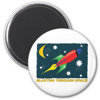 Blasting Through Space Refrigerator Magnet