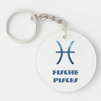Blau Fische Pisces Zodiac Keychain
