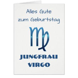 Blau Jungfrau Virgo Zodiac Geburtstag Card
