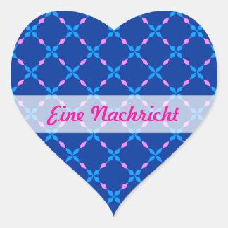 Blau rosa Bayrisch Heart Sticker