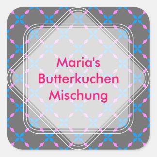 Blau rosa Bayrisch Square Sticker