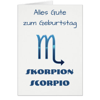 Blau Skorpion Zodiac Geburtstag Card