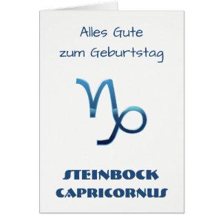 Blau Steinbock Zodiac Geburtstag Card