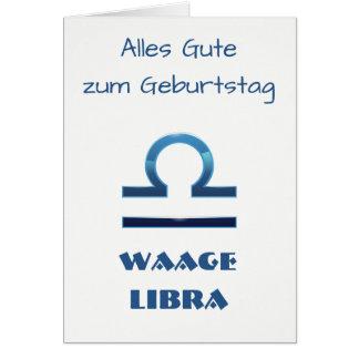 Blau Waage Libra Zodiac Geburtstag Card