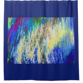 Blaugrundiger shower curtain with abstract Design