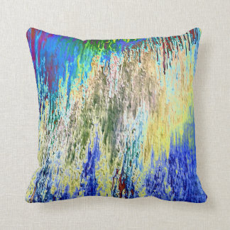 Blaugrundiges Dekokissen with abstract Design Throw Pillow