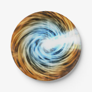 Blazar Black Hole Powered Galaxy Paper Plate