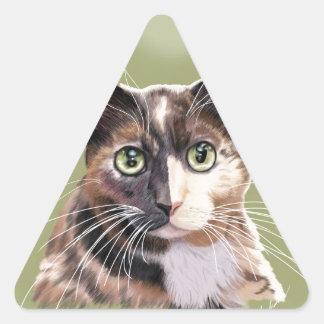 Blaze domestic short hair triangle sticker