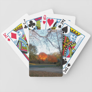 Blaze of Fall Bicycle Playing Cards