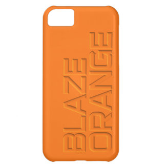 BLAZE ORANGE Hunter Safety iPhone 5C Covers