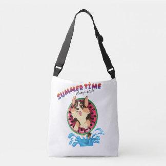 Blaze the corgi -Summertime Crossbody Bag
