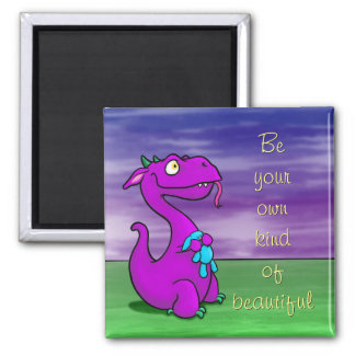 Blaze the Dragon, magnet w/quote