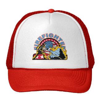 Blazing Firefighter Trucker Hats