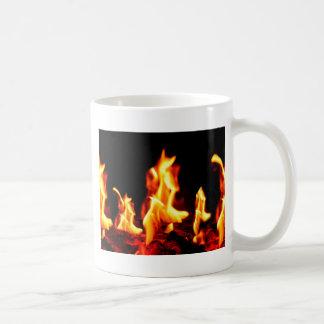 Blazing flames coffee mug