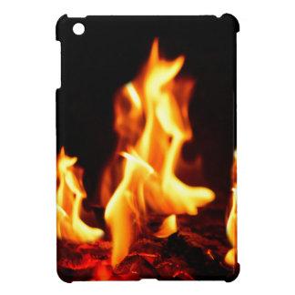 Blazing flames iPad mini cover