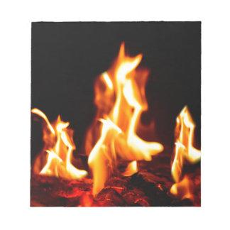 Blazing flames notepad