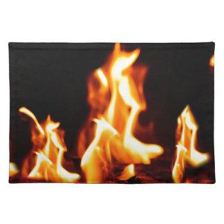 Blazing flames placemat