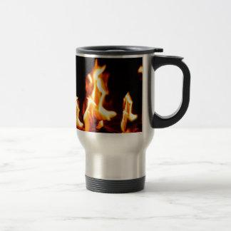 Blazing flames travel mug