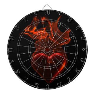 Blazing heart dartboard