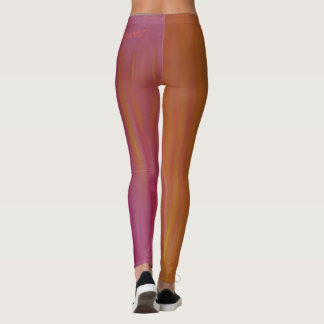 Blazing Orange and Pink Acrylic Leggings