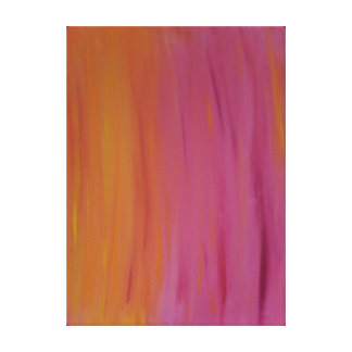 Blazing Orange and Pink Acrylic Painting Canvas Print