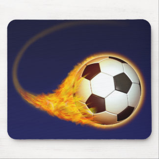 Blazing Soccer Football Mouse Pad