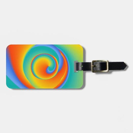 blazing spin - luggage tag