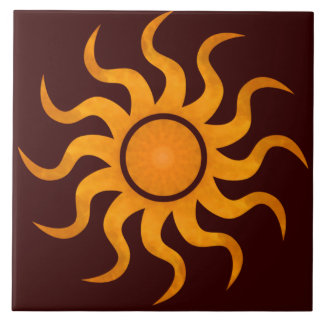 Blazing Sun Chocolate Brown Tile - Large