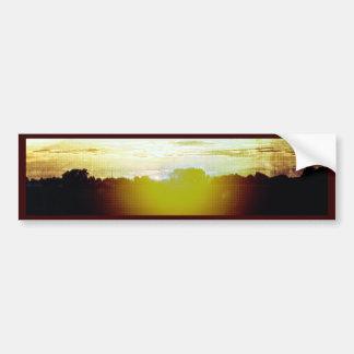 Blazing Sunset Car Bumper Sticker