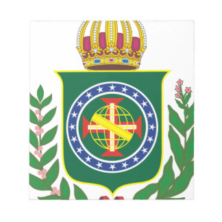 Blazon Empire of Brazil Notepad