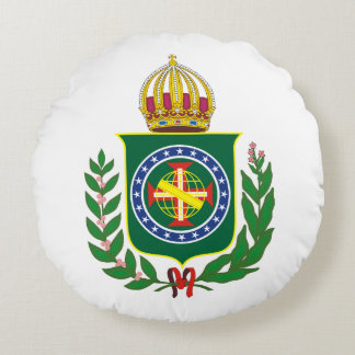 Blazon Empire of Brazil Round Pillow