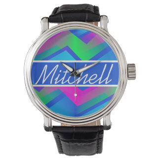 BLB Abstract Zigzag Personalized Watch