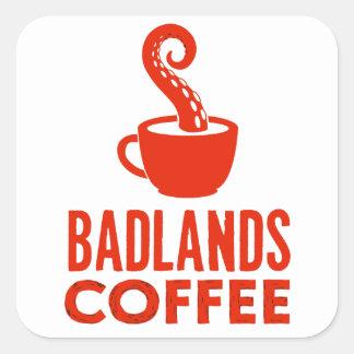 BLC Logo & Text Sticker, red, landscape Square Sticker