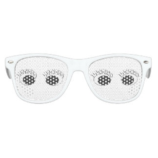 Blck Eyes/Lashes Kids Retro Party Shades