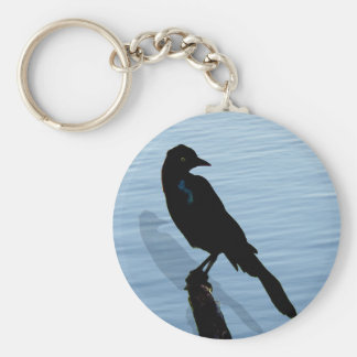 Blckbird by the water keychain