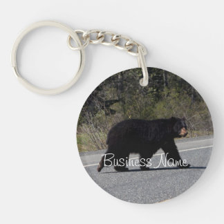 BLCR Bear Crossing Single-Sided Round Acrylic Keychain