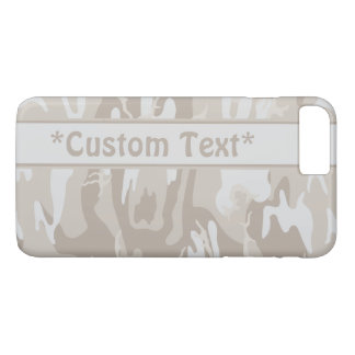 Bleached Wasteland Brown Camo w/ Custom Text iPhone 7 Plus Case