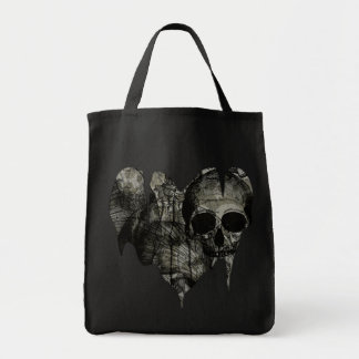 Bleak Heart Gothic Valentine Grocery Tote Bag