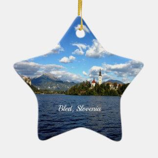 Bled, Slovenia--landscape photograph Ceramic Ornament