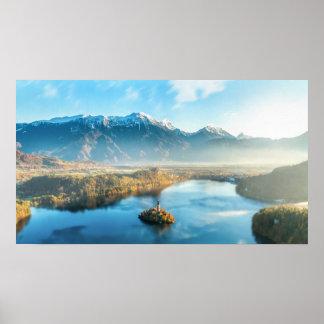 Bled, Slovenia landscape Poster