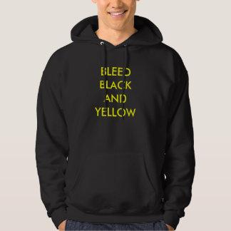 BLEED BLACK AND YELLOW HOODIE