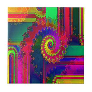 Bleeding Colors Fractal Tile