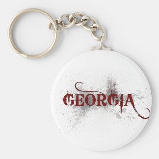 Bleeding Grunge Georgia Keychain