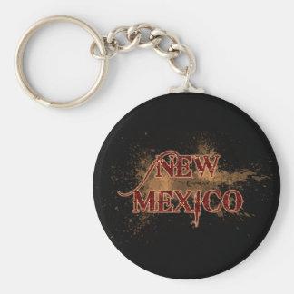 Bleeding Grunge New Mexico Keychain Dark