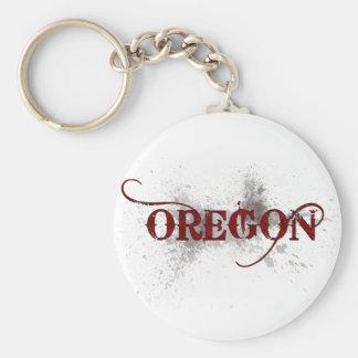 Bleeding Grunge Oregon Keychain